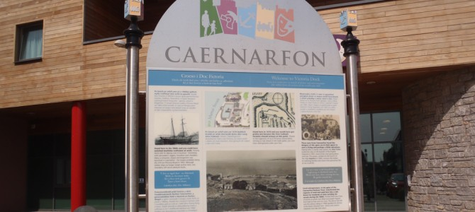 Paneli cyfeirio a dehongli – Caernarfon – orientation and interpretation panels