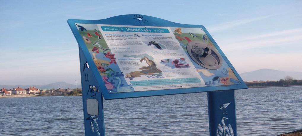 Trywydd bywyd gwyllt a threftadaeth – Marine Lake, Rhyl – nature and heritage trail