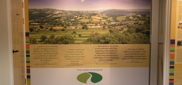 Traditional Buildings Centre, Dinefwr – exhibition for 'Tywi – a river through time' project